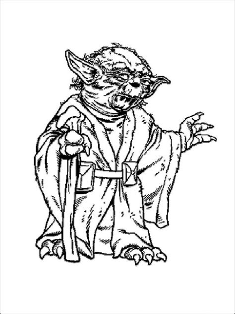 star wars yoda coloring pages  printable star wars yoda coloring pages