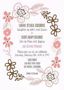 Custom Floral Border Wedding Invitation By Precious Beast