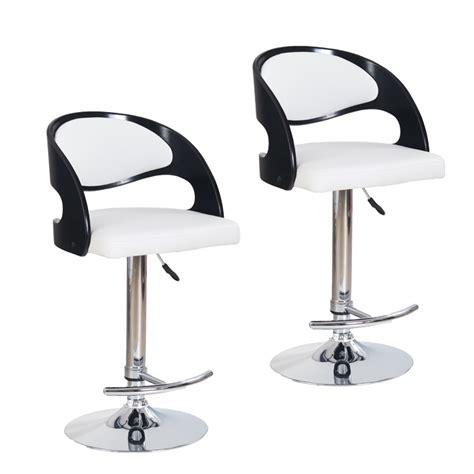 cuisine ikea blanc laqué chaise de bar noir et blanc cuisine en image