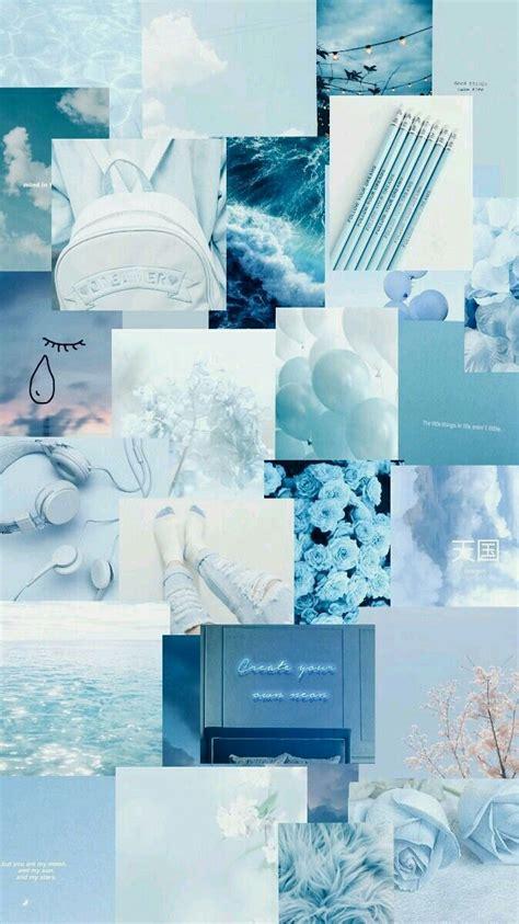 blue gambar aesthetic biru pastel