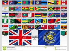 Flags Of The Commonwealth Of Nations Stock Photo Image