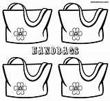 Handbag Coloring Pages Handbags Colorings sketch template