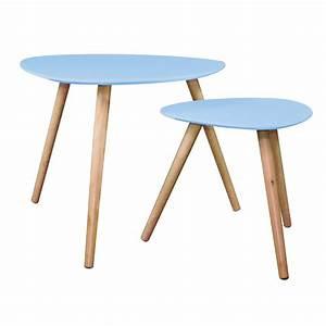 Set De Table Design : set de 2 tables d 39 appoint design mileo bleu ~ Teatrodelosmanantiales.com Idées de Décoration