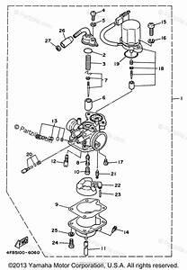 Yamaha Scooter 1997 Oem Parts Diagram For Carburetor