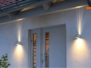 Außenbeleuchtung Haus Led : neu led wandleuchte tabo aussenleuchte up down g9 led ~ Lizthompson.info Haus und Dekorationen
