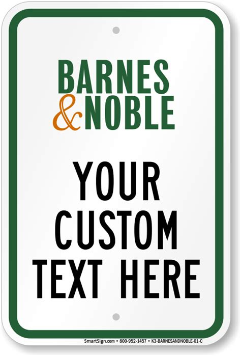 barnes and noble sign in barnes noble parking signs