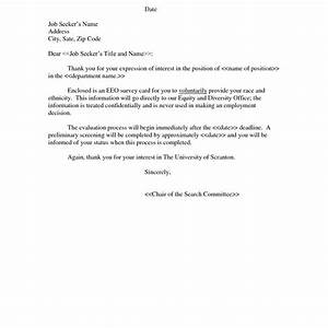 Cover letter expression of interest job for Cover letter expressing interest in company