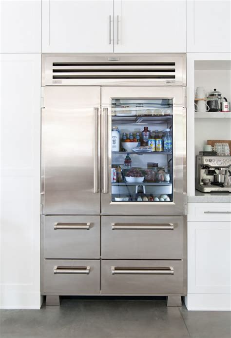 refrigerator with glass door 10 easy pieces glass door refrigerators remodelista