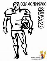 Football Coloring Offensive Guard Gritty Gridiron Sheets Yescoloring Player Linebacker sketch template