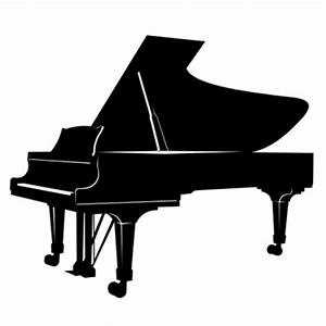 Musical piano silhouette in black color Vector   Free Download