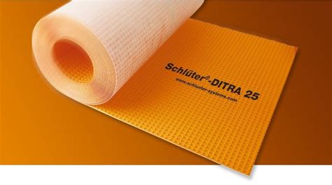 Tile Underlayment Membrane Orange by Schluter Ditra Matting 1mtr Wall Tiles And Floor Tiles
