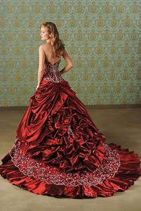 Bridal style and wedding ideas red wedding dresses for Wedding dress red