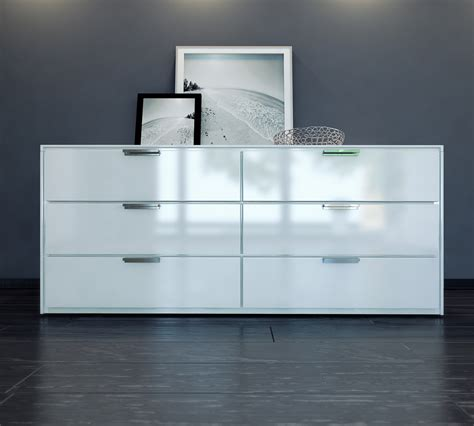 Thompson Modern Dresser In White Lacquer