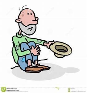 Beggar homeless stock illustration. Image of male ...