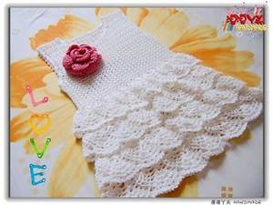 Mesh Ruffles Baby Dress Free Crochet Pattern  U22c6 Crochet Kingdom