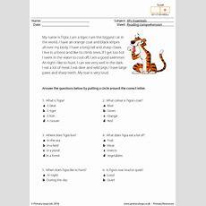 Esl Reading Comprehension  Tigra The Tiger