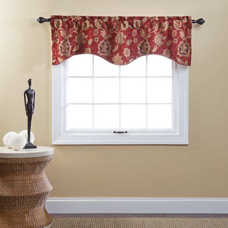Kitchen Curtains Melbourne by Melbourne Chenille Scalloped Valance With Cording