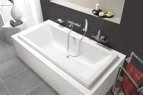 baignoire rectangulaire double dos quadra rectangulaire double dos aquarine