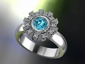 items similar to arc reactor inspired engagement ring With iron man wedding ring