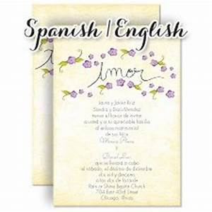 pequenas flores freesia bilingual spanish english With wedding invitations spanish and english