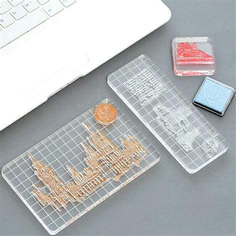 clear acrylic block scrapbook clear stamp board square