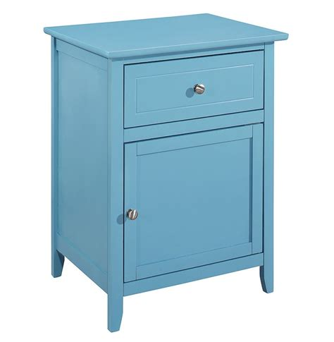 Teal Nightstand by G1416 Drawer And Door Nightstand Teal By Furniture