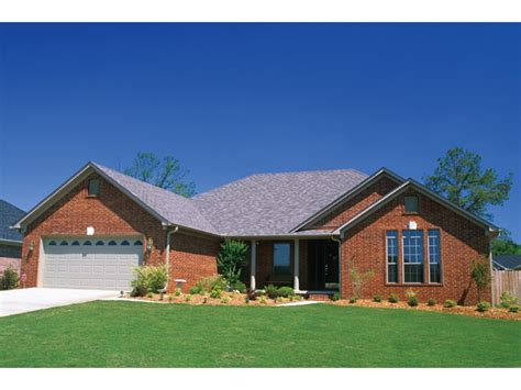 single house plans with wrap around porch brick home ranch style house plans ranch style homes