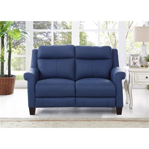 Best Loveseat Recliners by Hydeline By Amax Dolce Top Grain Blue Leather Power
