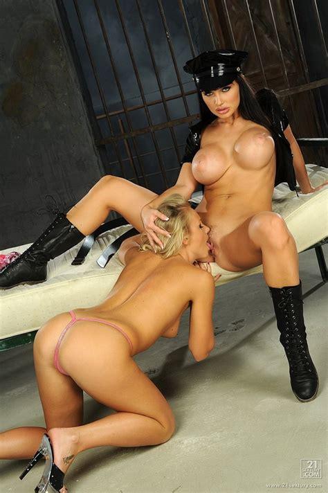 Lovely Lesbian Toy Sex Stars Aletta Ocean In A Police