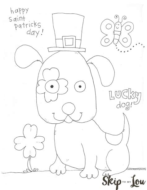 st patricks day coloring page  preschoolers skip