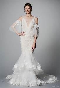 marchesa bridal spring 2018 wedding dresses new york With cold shoulder wedding dress