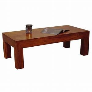 Table Basse Bois Exotique : table basse rectangulaire en palissandre salon zen ~ Dode.kayakingforconservation.com Idées de Décoration