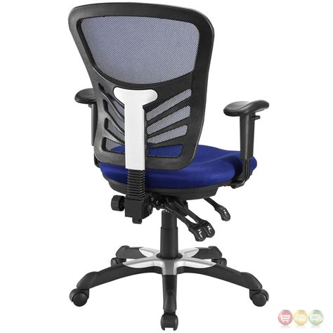 articulate modern adjustable ergonomic mesh office chair blue
