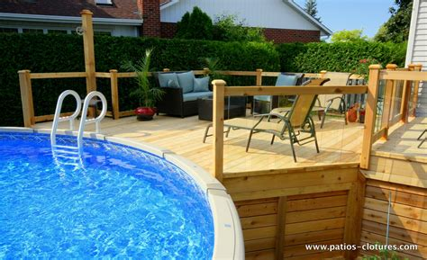 Pools With Decks Above Ground Pool Pictures