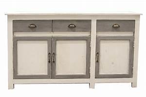 Meuble Blanc Et Gris : meubles anciens pour une d coration vintage ou nordique ~ Dailycaller-alerts.com Idées de Décoration