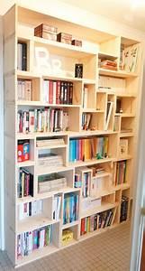 Bibliothèque Murale Bois : fabriquer sa biblioth que en bois sur mesure bricolage ~ Premium-room.com Idées de Décoration