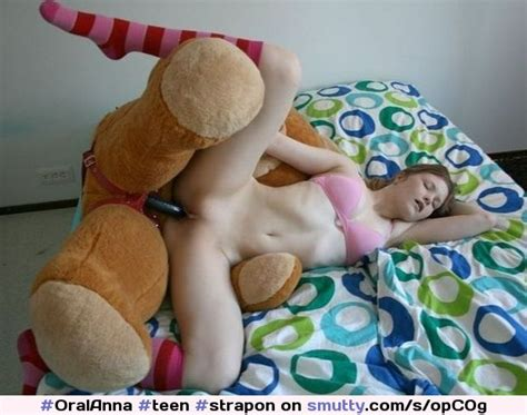 An Image By Exposed18 Fantasticc Teenstraponfuckedbottomlesssmalltitsamateurteddybear
