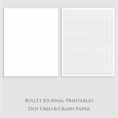 Bullet Journal Dotted Templates by Love The Versatility Of Dot Grid Paper And Graph Paper