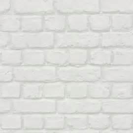Papier Peint Effet Capitonné Blanc by Papier Peint Vinyle Sur Intiss 233 New Brique Blanc Brillant