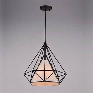 Luminaire Design Led : suspension g om trique noire et blanche m tal ethna ~ Teatrodelosmanantiales.com Idées de Décoration