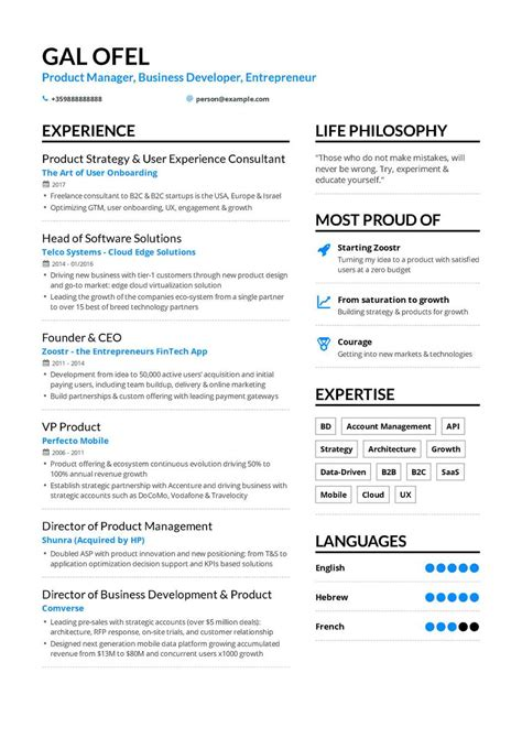 Build My Own Resume by Business Development Resume Exle And Guide For 2019
