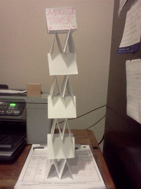 paper tower  papercraft paper folding  cut