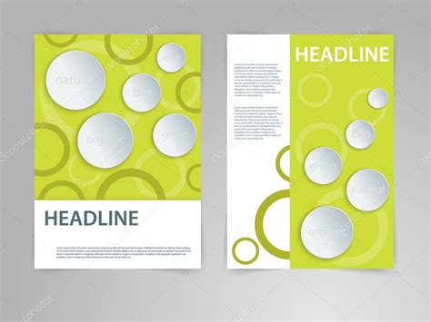 Abstract vector flyer poster magazine cover template in