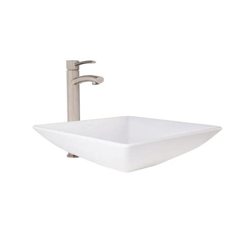 home depot white vessel sink polaris sinks stone vessel sink in white onyx p658 the