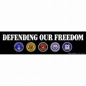 defending our freedom bumper magnet With kitchen cabinets lowes with patriotic bumper stickers
