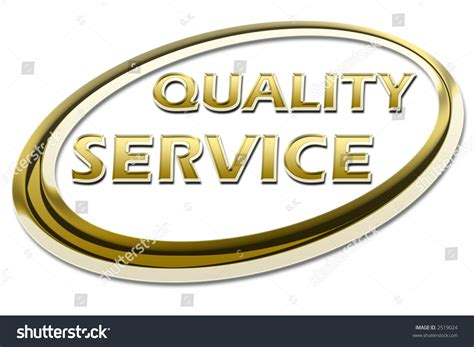 Gold, Golden Quality Service Certificate Sign Symbol On