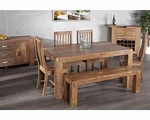 table salle a manger bois massif homeandgarden With table salle à manger bois massif