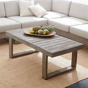 portside grey finish wooden rectangular coffee table With gray wood coffee table set
