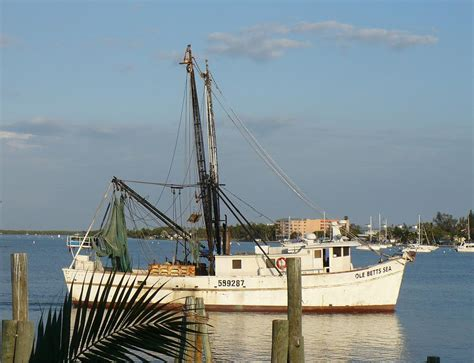 Shrimp Boat Tour Fort Myers Beach by Florida Shrimp Boat Photograph By Florene Welebny