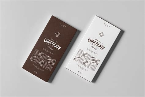 Mockup of packaging for snacks, bars. Chocolate Box Mock-up on Behance